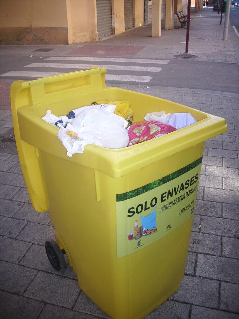 Contenedor amarillo-imagen